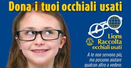RICICLO: raccolta di occhiali usati